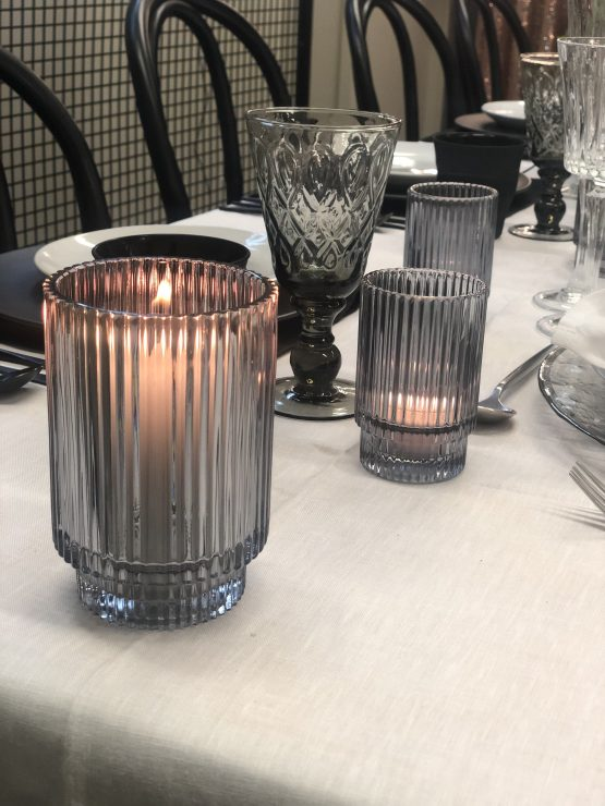 grey tealight holder hire nz