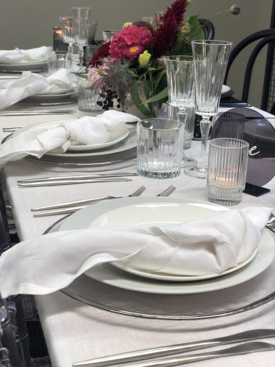 white linen napkin hire nz