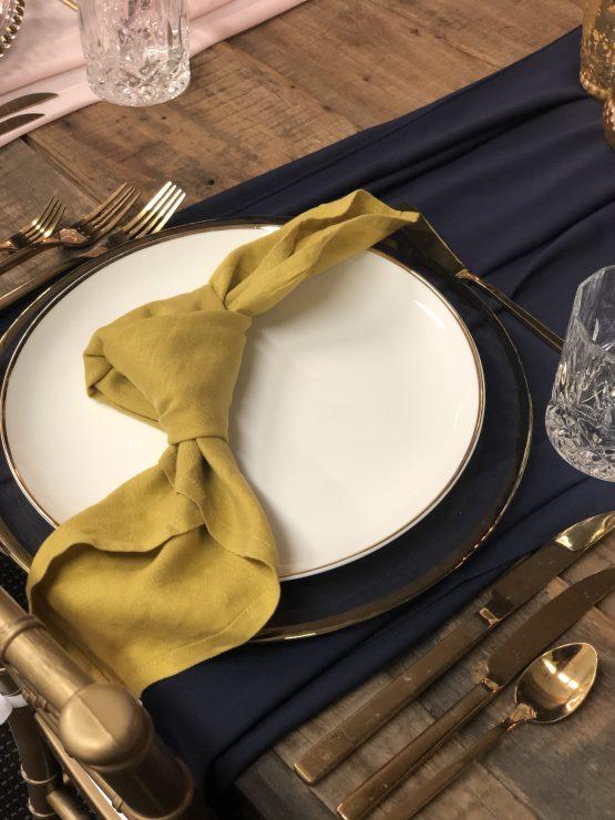 mustard napkin hire nz