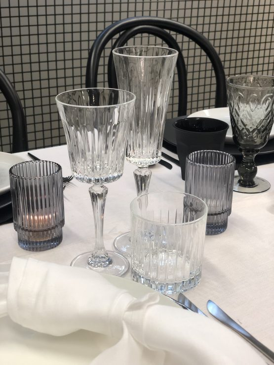 crystal glassware hire auckland