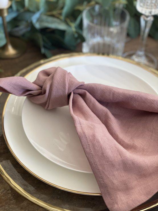 dusky pink napkin hire nz