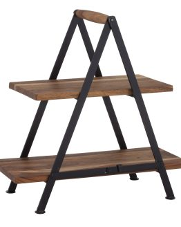 wooden serving stand hire nz