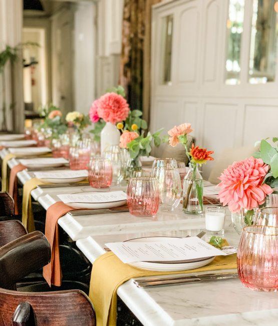 mustard and rust napkins wedding nz
