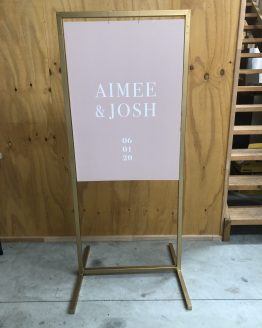 gold acrylic sign stand hire auckland nz