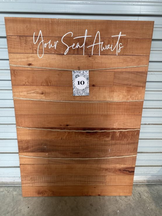 your seat awaits seating chart board hire nz