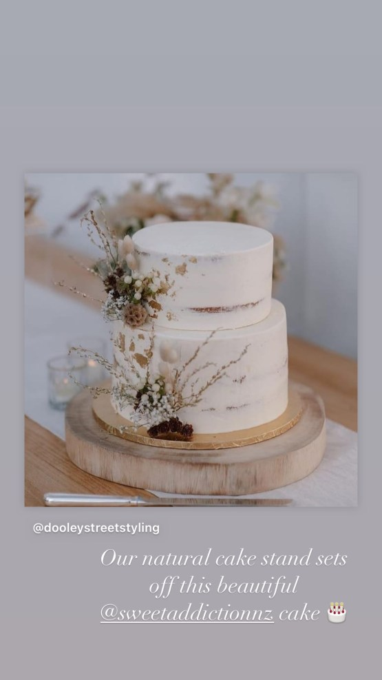 wooden cake board hire auckland nz