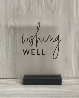 wishing well acrylic sign hire auckland nz