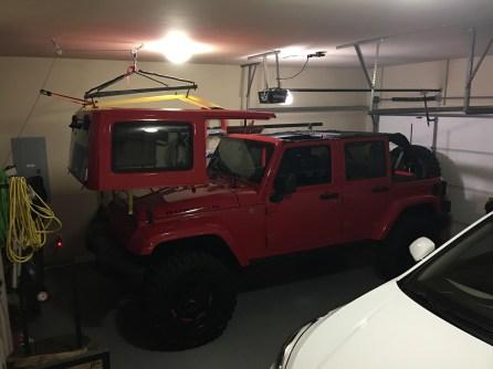 Jeep Top Hoist - First Attempt