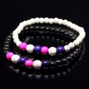 Lesbian Bracelets With White Beads