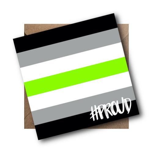 Agender LGBT Flag Card #PROUD