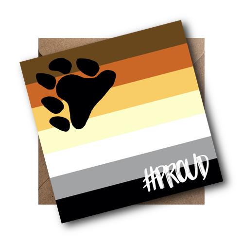Bear LGBT Flag Card #PROUD