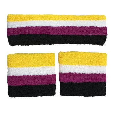 non binary sweatbands and headband set