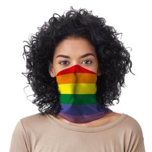 rainbow bandana face mask