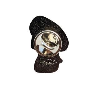 Asexual Mushroom Pride Metal Pin Badge