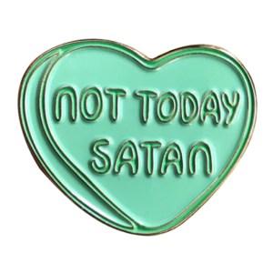 ru Paul drag race not today satan pin badge