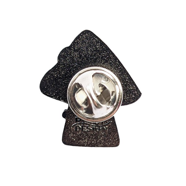 Rainbow Mushroom Pin Badge Back
