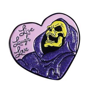 skeleton pin badge
