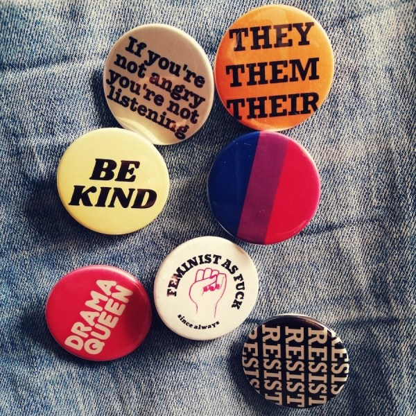 Vintage style Pride pin badges for sale