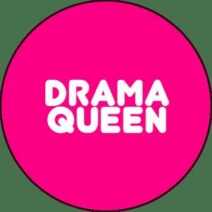Drama Queen pin badge