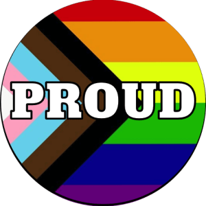 Progress Flag Proud badge for sale