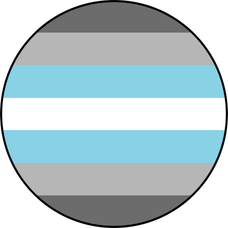 Demiboy pride flag pin badge for sale