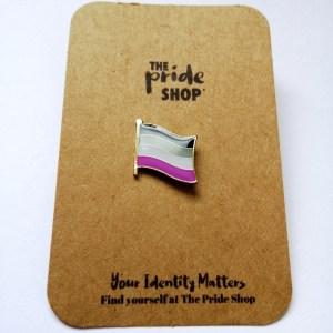 Asexual Waving Flag Pin Badge