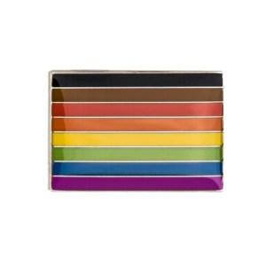 BAME Philidelphia Pride Flag Pin Badge