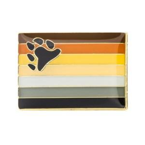 Bear Pride Flag Pin Badge
