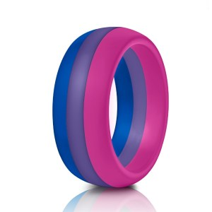 Bisexual Pride Flag Silicone ring