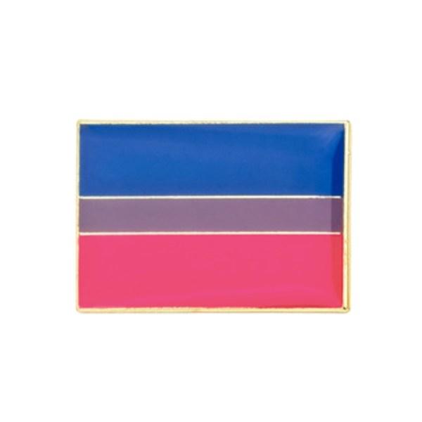 Bisexual pride flag pin badge