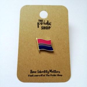 Bisexual Waving Flag Pin Badge