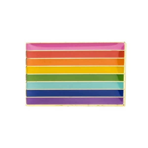 Gilbert Baker Pride Flag Pin Badge