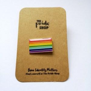 Gilbert Baker Rainbow Flag Pin Badge