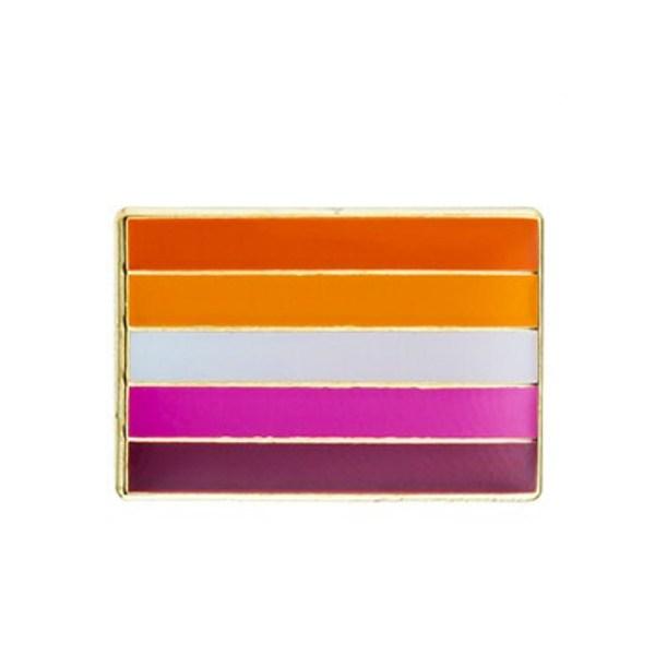 Lesbian Community Straight Flag Pin Badge