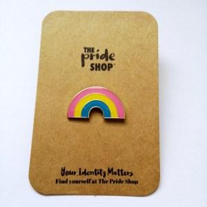 Pansexual Flag Rainbow Pin Badge