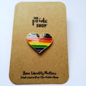 BAME Heart Pin Badge