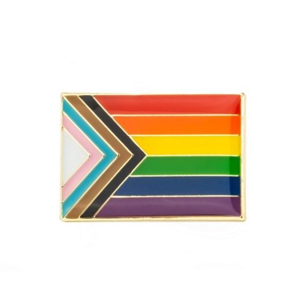 Rainbow Progress Pride Flag Pin badge