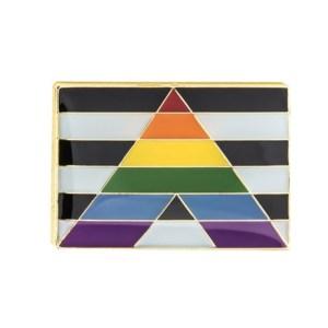Straight Ally Pride Flag Pin Badge