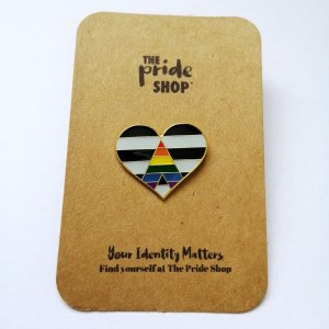 Straight Ally Flag Heart Pin Badge