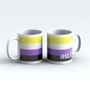 NON BINARY #PROUD Pride Mugs Pair