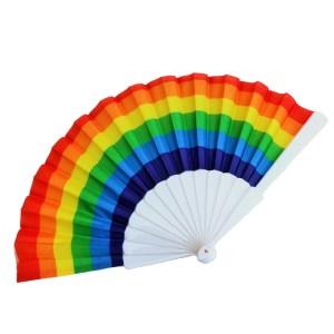 Rainbow LGBT Pride Hand Fan