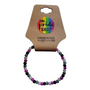 Asexual Crackle Bead Bracelet