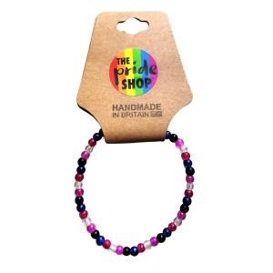 Genderfluid Crackle Bead Bracelet