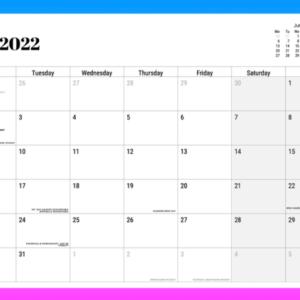 The Big Trans Calendar 2022