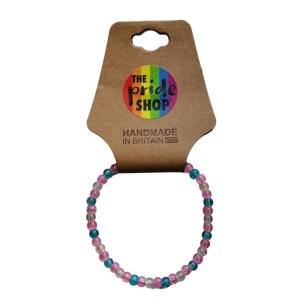 Transgender Crackle Bead Bracelet