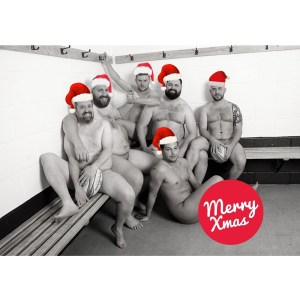The Naked Rugby Players Christmas Cards 2022 (6 Pack)
