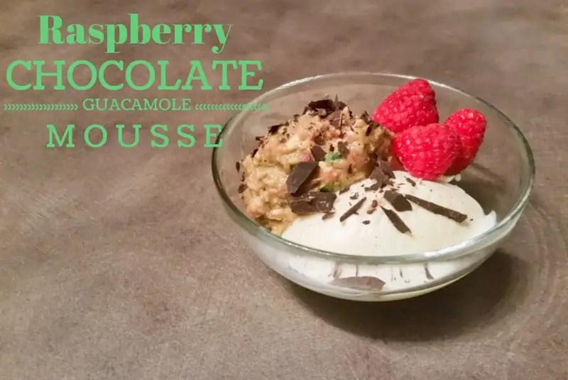 Raspberry Chocolate Guacamole Mousse