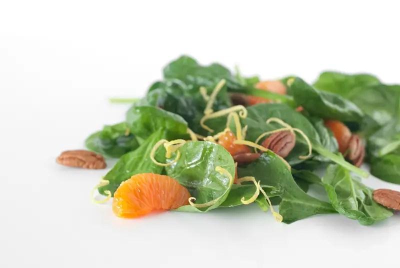 Mandarin Pecan Spinach Salad