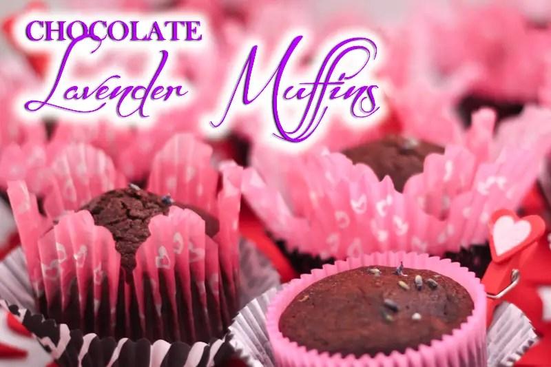 Paleo Chocolate Lavender Muffins