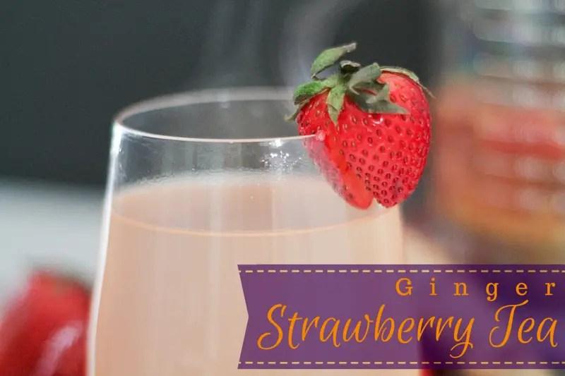Ginger Strawberry Tea